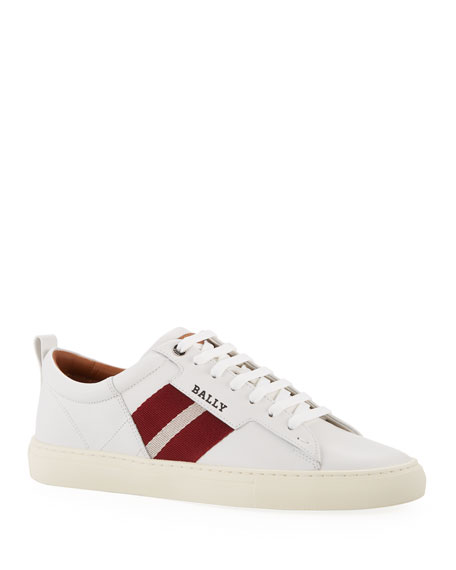Image 1 of 1: Men's Helvio Leather Low-Top Sneakers