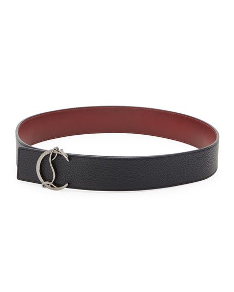 Men's Reversible CL Logo Leather Belt