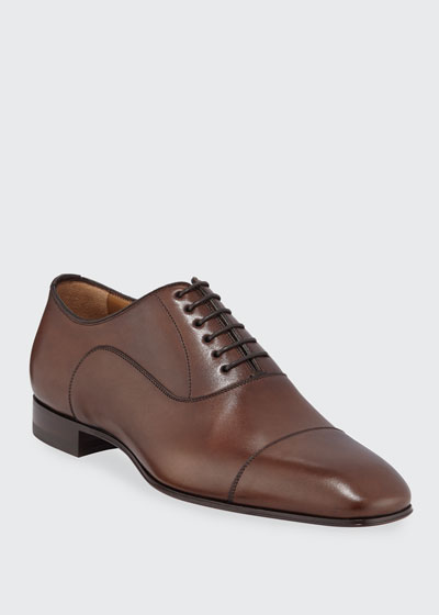 Greggo Patina Calf Leather Red Sole Oxford
