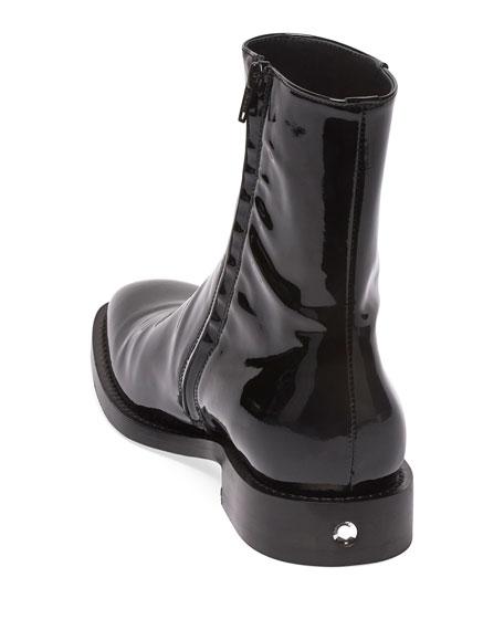 Men's Rim Patent Leather Chelsea Boots