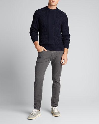 Men's Honeycomb Cotton Stretch 5-Pocket Pants