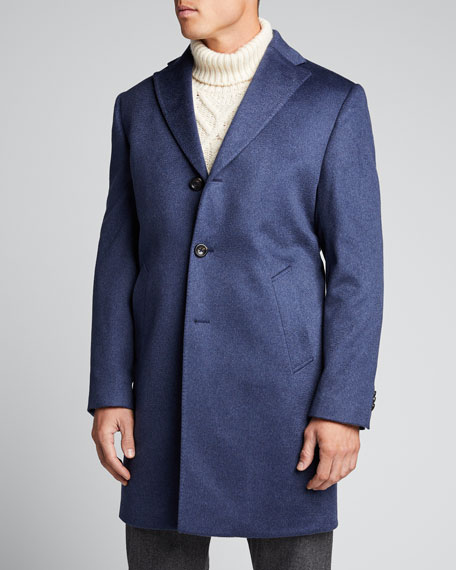 Men's Heathered Cashmere Topcoat
