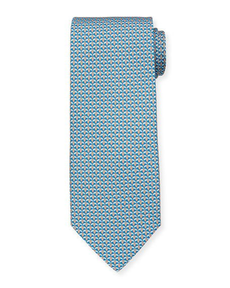 Image 1 of 1: Lape Bee-Print Tie, Blue