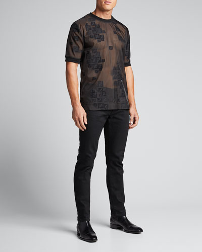 Men's Faded-FF Sheer T-Shirt