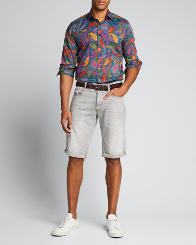 Men's Vibrant Paisley Party Sport Shirt