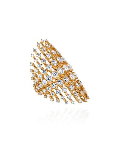 Disco 18k Diamond Ring  Size 7