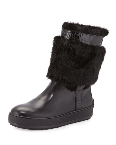 Kamila Faux-Fur Trimmed Snow Boot