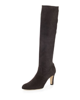 Pascaputre Stretch-Suede Tall Boot