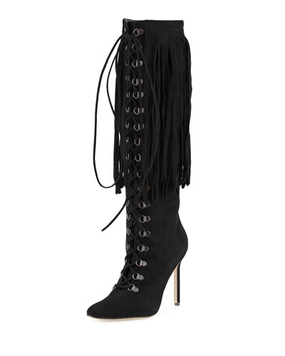 Siouxie Suede Fringe Boot