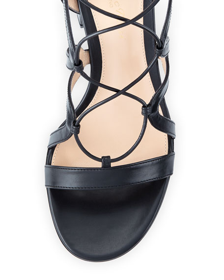 Lace-Up Block-Heel 60mm Gladiator Sandal