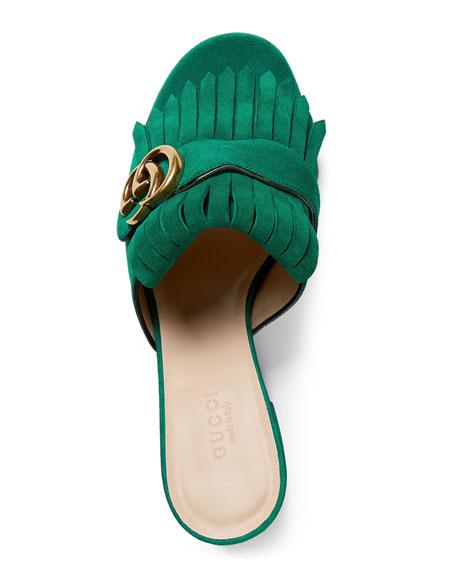 Marmont Suede Mule Sandal