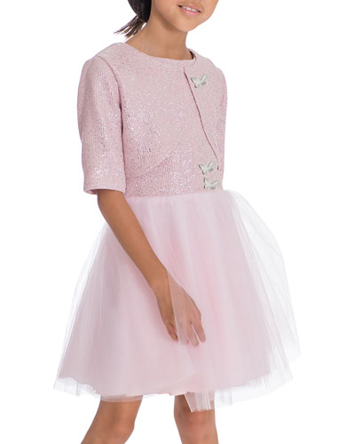 Girl's Shai Foiled Tulle Party Dress 2-Piece Set  Size 4-6X and Matching Items