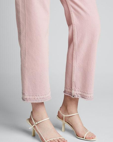 Maya High-Rise Ankle Straight Denim Jeans