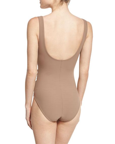 Criss-Cross One-Piece Swimsuit
