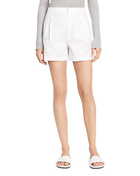 Image 1 of 1: High-Waist Pleated Shorts