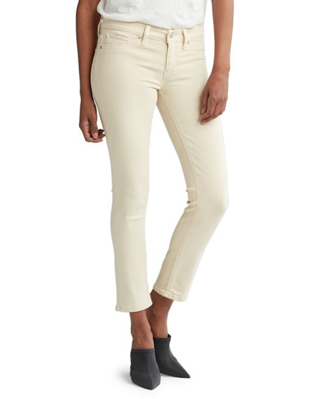 Image 1 of 1: Tally Mid-Rise Skinny Cropped Jeans