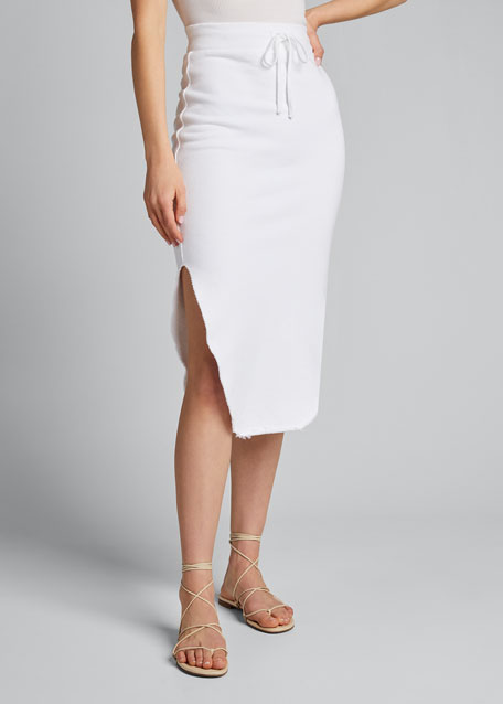 Long Fleece Pencil Skirt