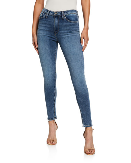 Image 1 of 1: Barbara High-Waist Super Skinny Ankle Jeans