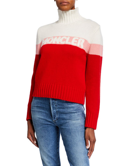 Image 1 of 1: Colorblock Logo Sweater