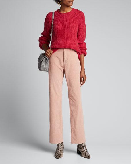 Ruth Super High-Rise Straight Corduroy Pants