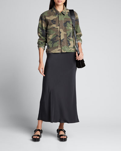 Jane Button-Front Utility Jacket