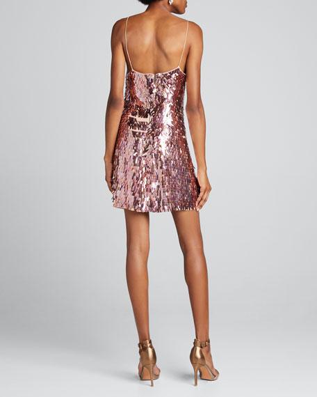 Contessa Sequined V-Neck Spaghetti Strap Dress
