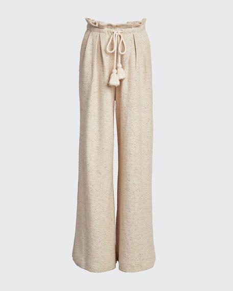Ayana Drawstring Wide-Leg Pants