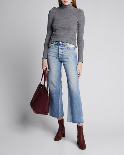 DIY Wide-Leg High-Rise Relaxed Crop Jeans