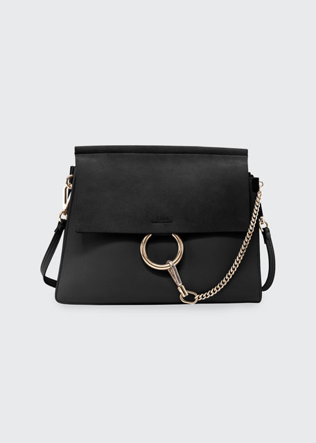Chloe Faye Suede-Flap Shoulder Bag