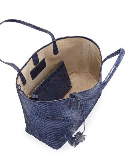 Erica Soft Python Tote Bag