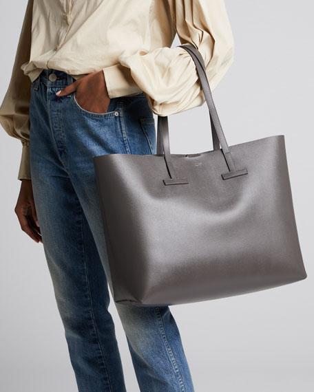 Saffiano Large Leather T Tote Bag