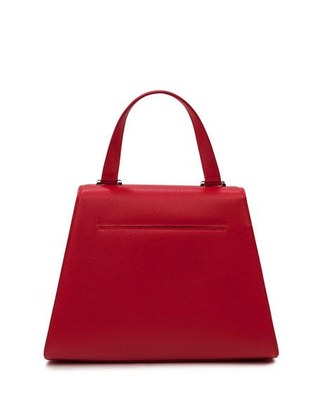 Alba Framed Structured Calfskin Top Handle Bag