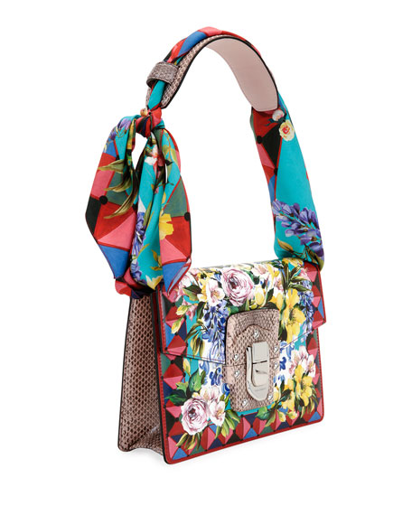 Lucia Caltagirone Scarf-Tie Shoulder Bag