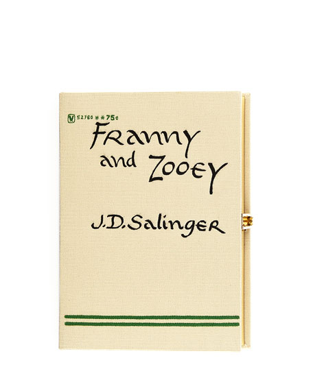 Franny and Zooey Book Clutch Bag, Cream