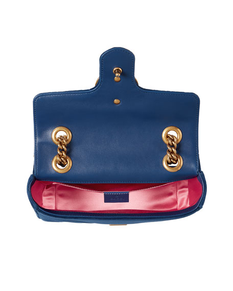 GG Marmont 2.0 Mini Velvet Shoulder Bag