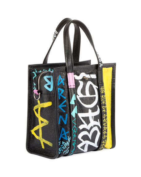Bazar Small Graffiti-Print AJ Shopper Tote Bag