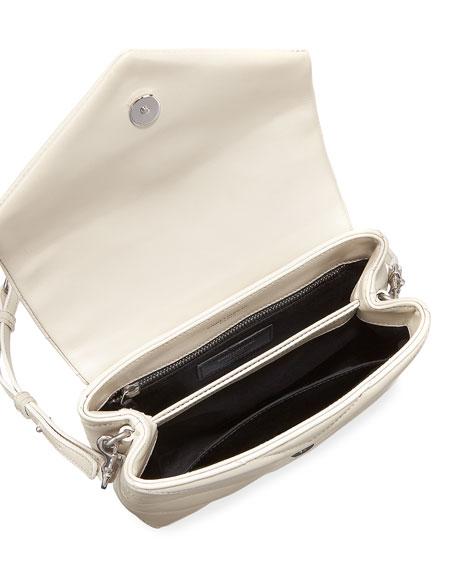 Loulou Toy Matelasse Calfskin V-Flap Crossbody Bag