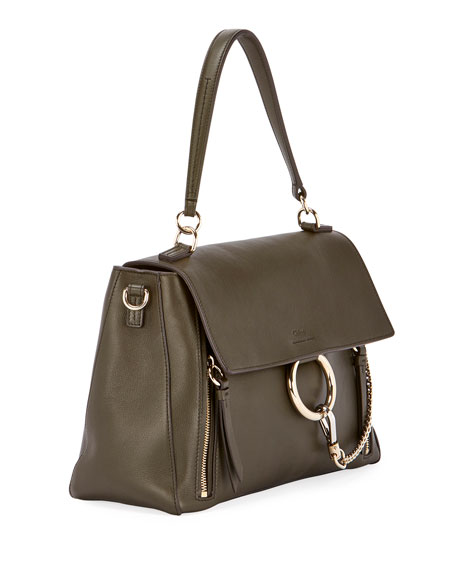 Chloe Faye Day Small Pebbled Ring Shoulder Bag 5c6c980f21