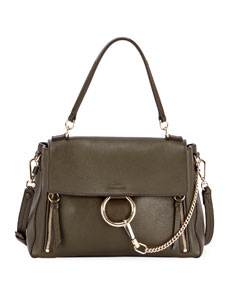 20c0edefbf46 Chloe Faye Day Small Pebbled Ring Shoulder Bag