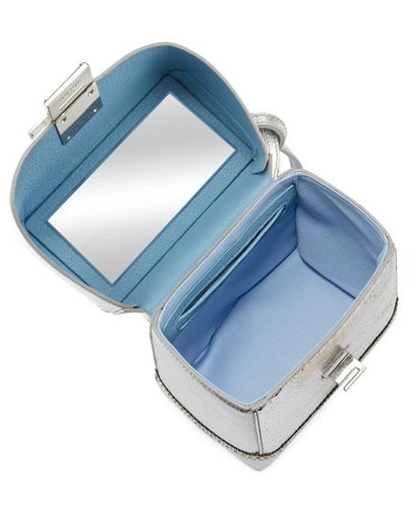 Great Metallic Leather Lunch Box Bag