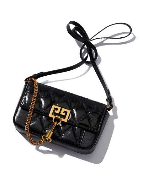 Pocket Mini Pouch Convertible Clutch/Belt Bag - Golden Hardware