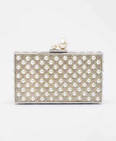 Clara Crystal Pearly Box Clutch Bag