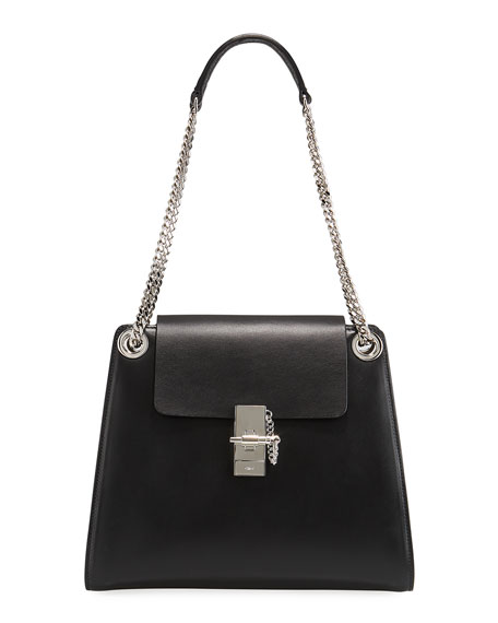 Image 1 of 1: Annie Medium Leather Shoulder Bag