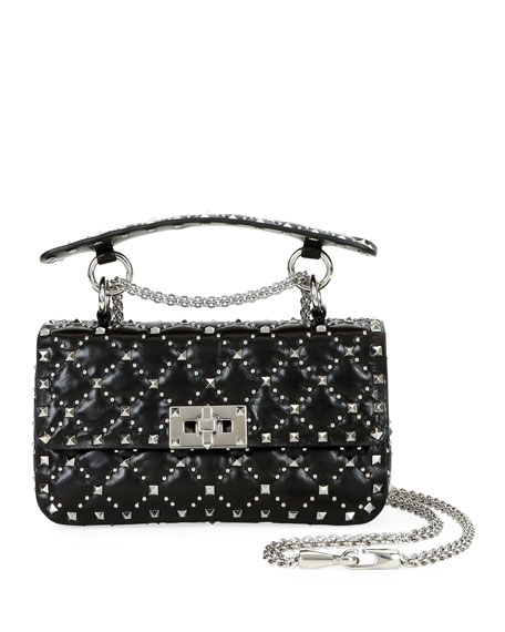 Image 1 of 1: Spike.It Small Micro-Stud Shoulder Bag