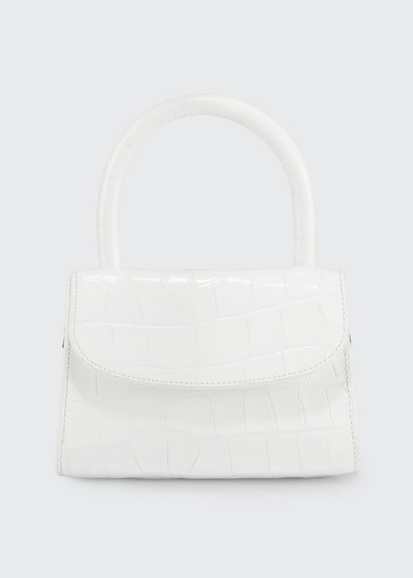 Mini Crocodile-Embossed Top Handle Bag