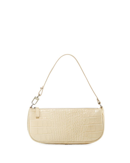 Rachel Small Croc-Embossed Shoulder Bag