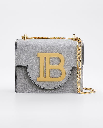 B BAG 18 GLITTER LEATHER