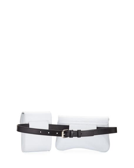Galaxy Two-Tone Calf Belt Bag
