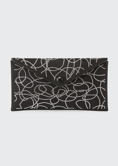 Louise Suede Clou Nuage Clutch Bag