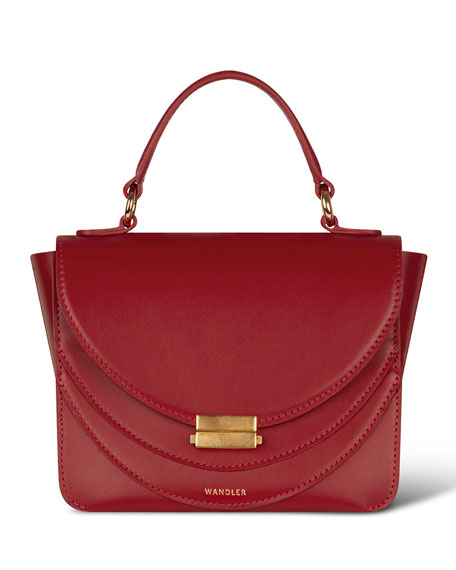Image 1 of 1: Luna Mini Calf Top Handle Bag